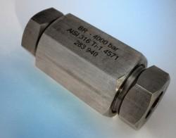 Höchstdruck- Schlauchverbinder 4000 bar